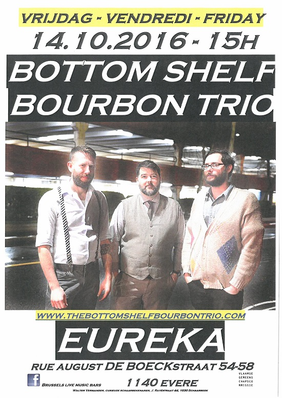 2016 10 14 Bottom shelf bourbon trio Eureka